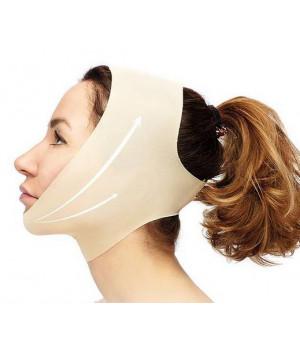 Маска БЕСШОВНАЯ  с ЗАКРЫТЫМИ ушами, для подтяжки овала лица, после уколов ботокса и мезонитей