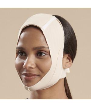 Маска для лица с бандажом под подбородком и открытыми ушами. Без пермычки на затылке