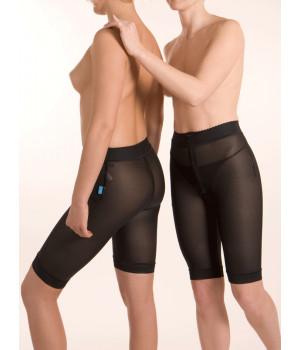 Компрессионные штаны до середины бедра с двумя молниями