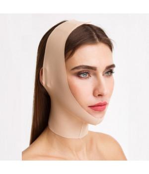 Компрессионная маска для фиксации овала лица с БЕСШОВНЫМ краем после нитей, мезонитей и инъекций
