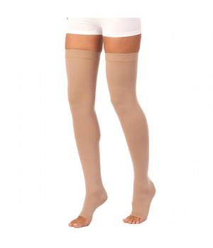 441R Чулок компрессионный К2 (24-30 mmHg) открытый носок (мысок) на операцию, для родов или кесарево, на одну ногу