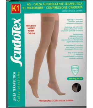 444 Чулки компрессионные 2 класс компрессии Скудотекс  К1 (20-30 mmHg) с микрофиброй, закрытый носок (мысок)